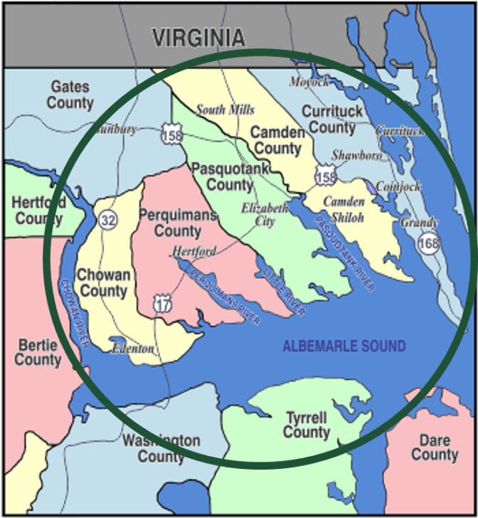 Welcome to Northeastern North Carolina!   AAENENC